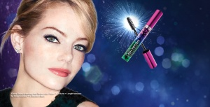 The beautiful Emma Stone modelling the Revlon Grow Lucious Lash Potion Mascara